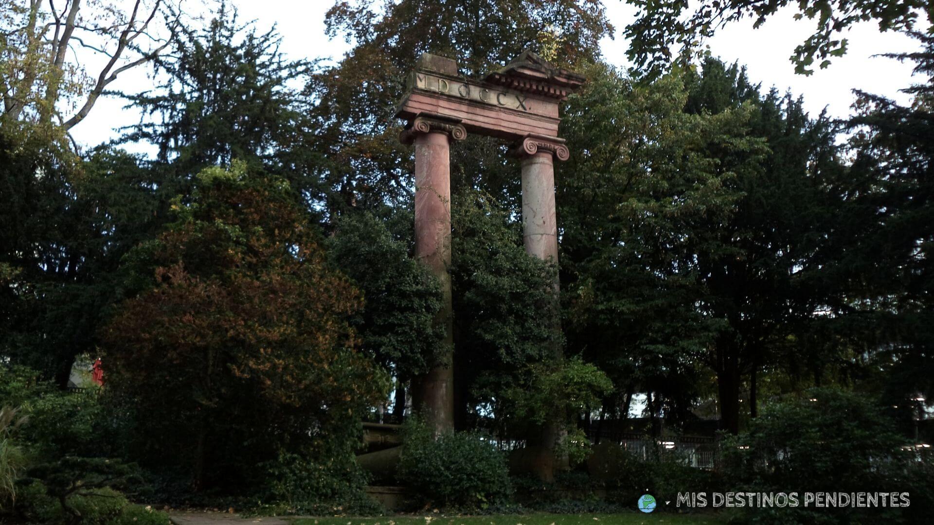Detalle del Kurpark (Wiesbaden, Alemania)