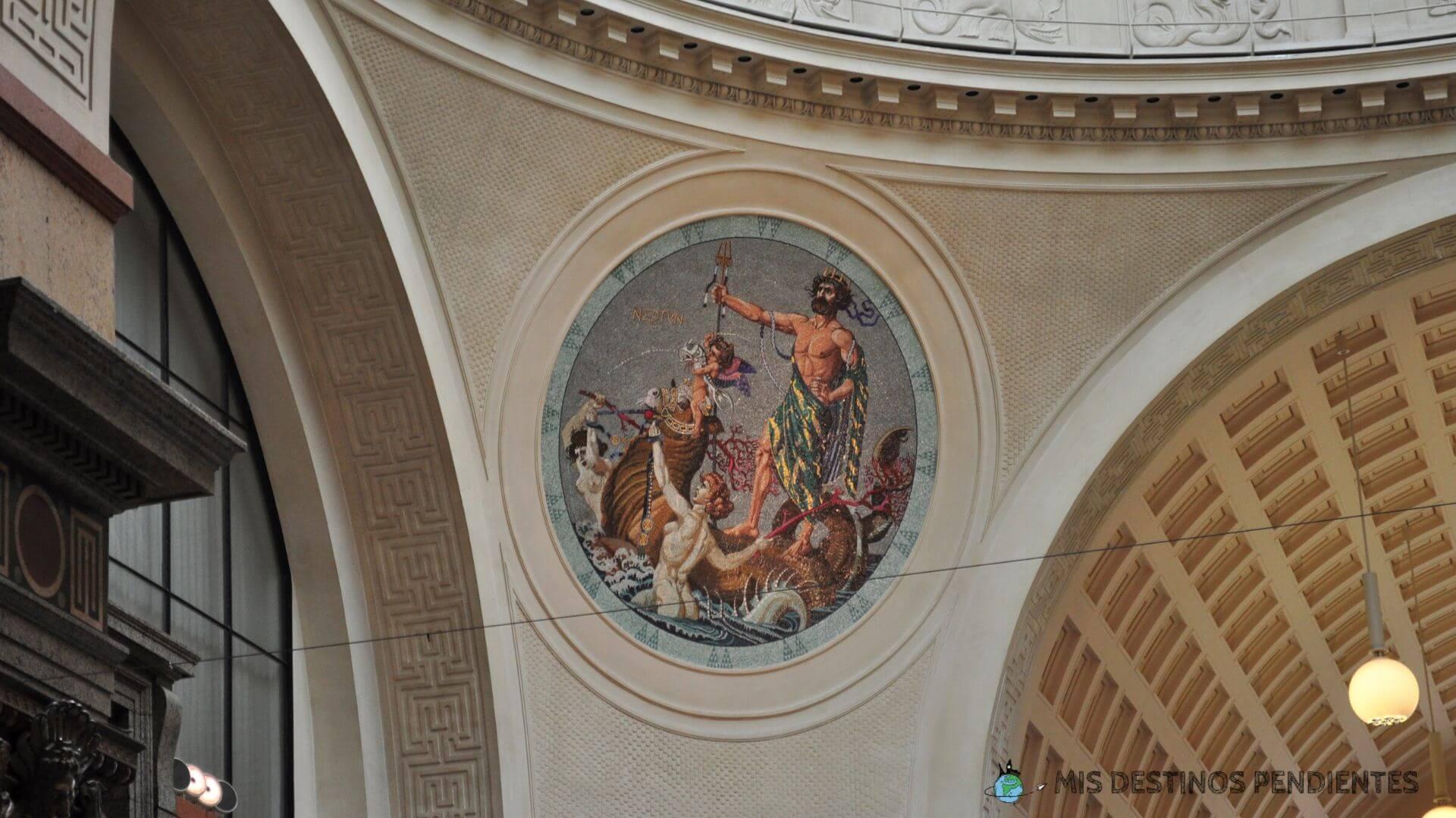 Detalle de la decoración interior del Kurhaus (Wiesbaden, Alemania)
