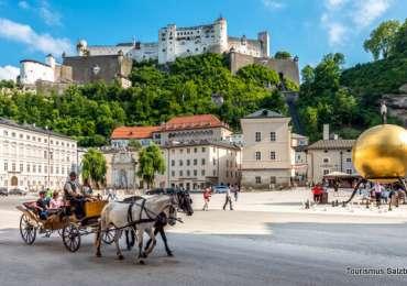 Salzburgo – Barrio de la Catedral, Mozartplatz, Residenzplatz, Kapuzinenberg y Palacio de Mirabell