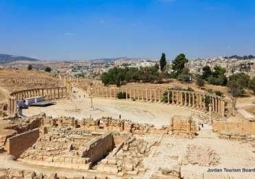 Jerash (Gerasa) – Plaza Oval y Decumano Sur