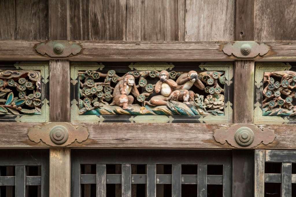 Los tres monos sabios del Santuario Toshogu (Nikko, Japón) ©JNTO