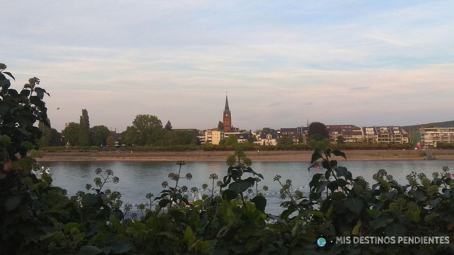 Vistas desde el Biergarten del Alter Zoll (Bonn, Alemania)