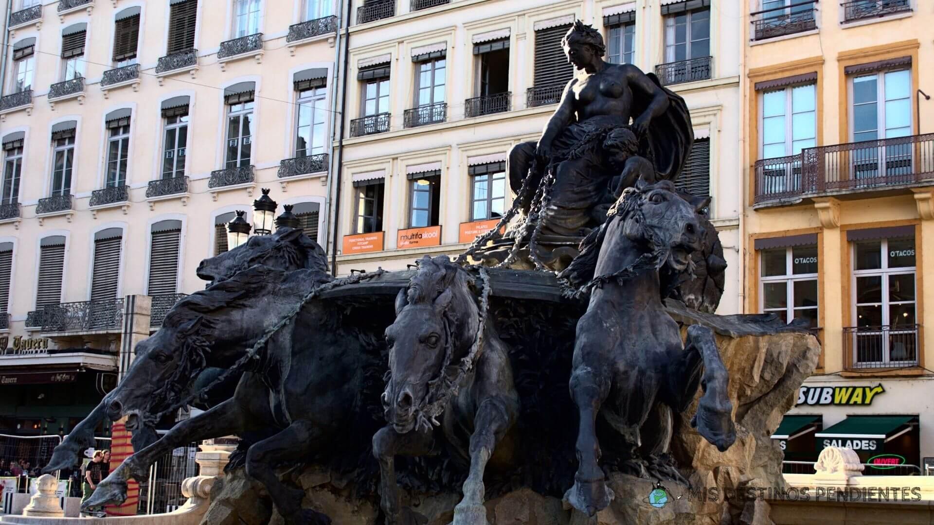 Fuente de Bartholdi (Lyon, Francia)