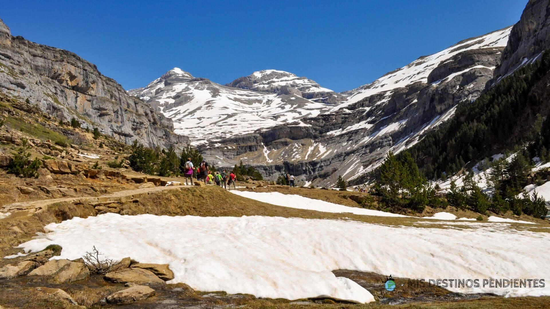 Vista de Monte Perdido desde el Circo de Soaso (Ordesa y Monte Perdido, Huesca)