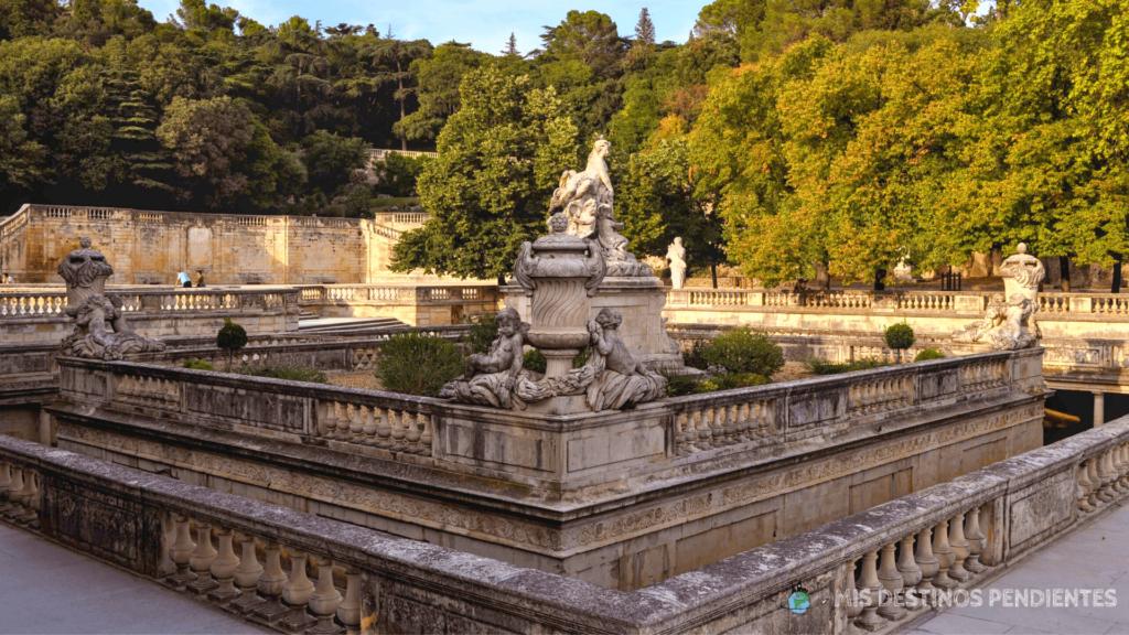 Jardins de la Fontaine (Nimes, Francia)