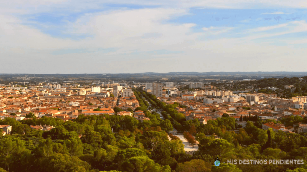 Vistas desde la Tour Magne (Nimes, Francia)