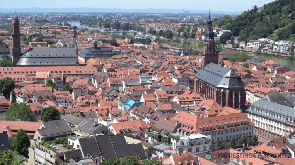 Vistas desde la Gran Terraza (Heidelberg, Alemania)