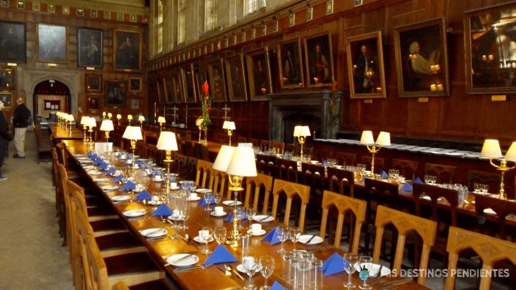 Hogwarts en Oxford: Gran Comedor del Christ Church College (Oxford, Inglaterra)